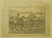 "Image of [Cowboys herding cattle to ranch] - Petersen, K. Gunnor ""Pete"", 1907-1982"