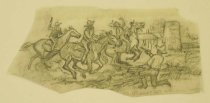 "Image of [Cowboys in a gunfight] - Petersen, K. Gunnor ""Pete"", 1907-1982"