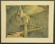 Image of [Prelininary sketch for the background used during the song 'Couples in the castle'] - Little, Robert, 1902-1994