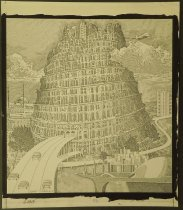 Image of [Futuristic Colosseum with highways] - Tinkelman, Murray