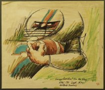 "Image of Larry Csonka ""On his way"" - Michaud, Roland, b.1926"