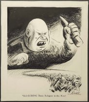 Image of 'Quit LURING these refugees to the West' - Bissell, Charles, 1908-2000