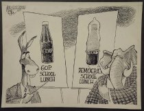 Image of G.O.P. school lunch...Democrat school lunch - Ritter, Mike, 1965-2014