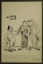 Image of O.K. fellas--break it up--life class has been over half an hour ago! - Groendyke, R.