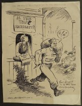 Image of The 64 dollar question is up to the railroads - Alley, Cal, 1915-1970