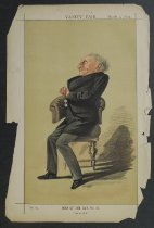 """Image of [Alexander William Kinglake] No. 174. Men of the day, No.41. """"Not an M.P.""""  - Cecioni, Adriano, 1836–1886"""