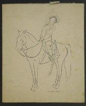 Image of [Policeman on horseback] - Price, Garrett, 1896-1979