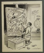 Image of Painting a horrible picture - Messner, Elmer Reed, 1900-1979