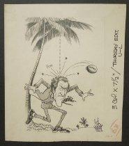 Image of [Florida coconut hitting Edmund Muskie] - Murphy, Bob