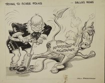 Image of Trying to scare folks - McClanahan, Bill, 1907-1981