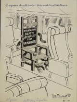 Image of Congress should install this seat in all airliners. - Manning, Reginald, 1905-1986
