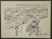 Image of Hardly anybody obeys speed signs anymore - Manning, Reginald, 1905-1986