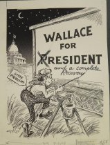 Image of Wallace for president and a complete recovery  - Spangler, Frank M. (Spang), 1881-1963