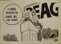 Image of If Carter's re-elected the country will lose respect  - Judge, Lee, 1953-