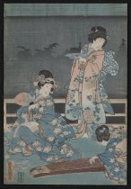 Image of [Women with koto] - Utagawa, Toyokuni, III, 1786-1864