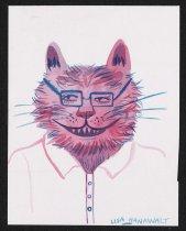 Image of [Pink cat with glasses] - Hanawalt, Lisa, 1983-
