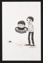 Image of [Boy carrying bowl with boy inside it] - Lambert, Joseph, 1984-