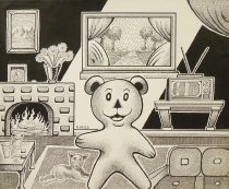 Image of [bear in living room] - Hayes, Rory, 1949-1983