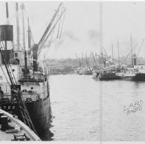 Image of 2009.1.0114 - E.K. WOOD SLIP OR SOUTHERN PACIFIC SLIP, EIGHT BOATS.