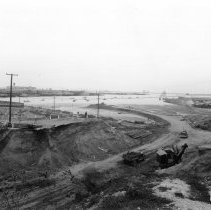 Image of 2009.11.0580-D - GENERAL VIEW, SHOWING 22ND STREET CUT TO MAKE WAY FOR A RAILROAD TO FORT MACARTHUR.