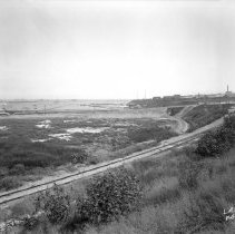 Image of 2009.11.0993-D - GENERAL VIEW, SHOWING 22ND STREET AND FORT MACARTHUR GUN EMPLACEMENT FILL.