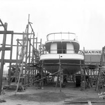 Image of 2009.15.0456-G - CONSTRUCTION OF PASSENGER FERRY BOAT AT SAN DIEGO, CALIFORNIA.