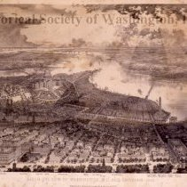 Image of KC0036.PR.BV.L.F. - Bird's Eye View of Washington, DC and Environs, 1865