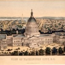 Image of KC0076.PR.AG.L.F. - Capitol - Bird's Eye View From East Front