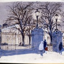 Image of KC0157.PT.AG.M.F. - White House - East Gate