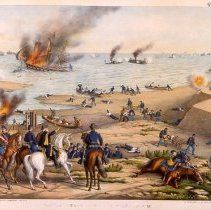 Image of KC0184.PR.AC.E.F. - Battle Between the Monitor and Merrimac (March 9, 1862)