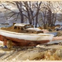 Image of KC0309.PT.WV.L.F. - Crampton Boat Yard, Potomac River, Georgetown