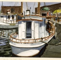Image of KC0355.PT.WV.E.F. - Fish And Crab Boats At Maine Avenue Fish Market