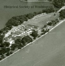 Image of AE 0269C - WW II Tempo Navy Quarters 1 on the Polo Field of West Potomac Park.