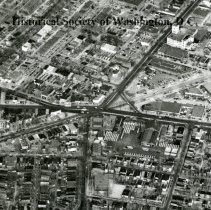 Image of AE 0102 A - Aerial view north over the intersection of Maryland Avenue, Bladensburg Road NE.