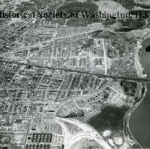 Image of AE 0103 - Aerial view north up 19th Street NE from East Capitol Street. Over Benning Road.