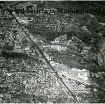 Image of AE 0153 - Aerial view north from Macomb Street NW over Connecticut Avenue at Porter Street.