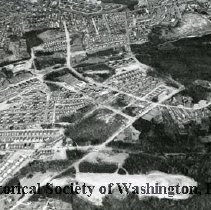 Image of AE 0016 - Aerial view north across Southern Avenue SE, past Wheeler Road, etc