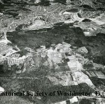 Image of AE 0017 - Aerial view north across Wheeler Road, Oxon Run Park, Alabama Avenue SE.