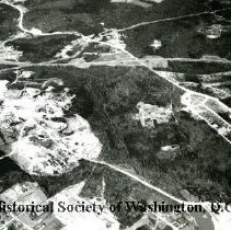 Image of AE 0024 - Aerial view in Prince Georges County, Maryland, north over Suitland Parkway.