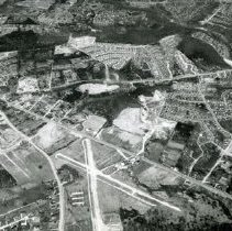 Image of AE 0030 - Aerial view north over the Crossroads Airport, east of Bailey's Crossroads, to Columbia Pike.