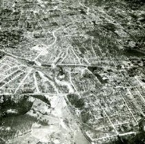 Image of AE 0062 - Aerial view north over Wilson Boulevard, Washington Boulevard, up Patrick Henry Drive.