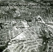 Image of AE 0063 - Aerial view north over Wilson Boulevard, Washington Boulevard, west of North Glebe Road.