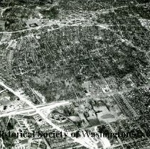 Image of AE 0065 - Aerial view north over North Glebe Road, Arlington Boulevard, Columbla Gardens Cemetery.