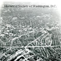 Image of AE 0692 - Aerial view east at the intersection of Eastern and Western Avenues with 16th Street NW.