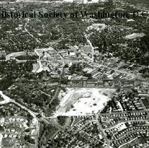 Image of AE 0697 - Aerial view east at the intersection of Eastern and Western Avenues with 16th Street NW.