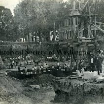 Image of CHS 03580 - Excavation site for construction of Treasury Department Building.