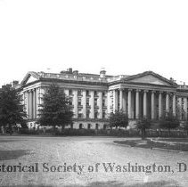 Image of CHS 06032 - Treasury Department Building on the northeast corner of 15 1/2 Street and Hamilton Place NW.