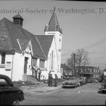 Image of WY 3692.52 - Congress Heights Baptist Church, Esther Place and Raleigh Street SE.  April 16, 1950