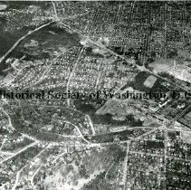 Image of AE 0150 - Aerial view north from Loughboro Road to Westmoreland Circle.