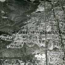 Image of AE 0155 - Aerial view north from Piney Branch Park along 16th Street NW, to Colorado Avenue.